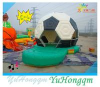 family use inflatable soccer bounce house cheap for boys play