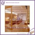 K4211 eventos cehap acessórios feitos à mão talão de plástico transparente cortina