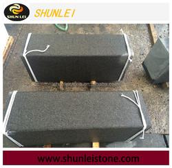 China cheap Mongolia black basalt granite flamed and brushed tile