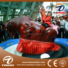 Top popular kids inflatable amusement park mechanical rodeo bull for sale