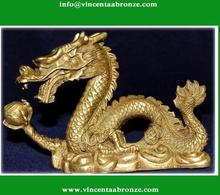 High quality cheap bronze dragon club statue