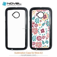 Glitter custom mobile phone case for Moto E2