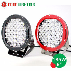 Big promotion 9'' offroad 4x4 led driving light, 185w led offroad driving light