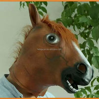 2015 hot sale halloween latex animal horse mask