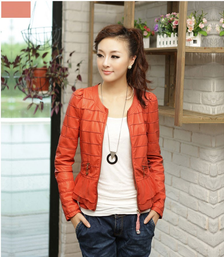 Женская куртка Fashion PU 6058