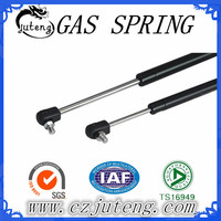 Pneumatic gas charged lift supports strut with plastic end
