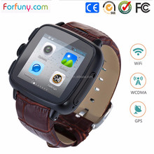 Custom accept smart watch phone with Android 4.4 system 3g wifi gps camara