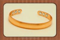 Wholesale Unisex heavy Adjustable 6 magnets arthritis pure magnetic copper bracelet