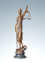 Tamanho grande Bronze vendas a justiça Sculptre Home Deco mito estátuas de arte mulheres estátuas Tpe-260