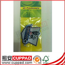 Professional colorful,cherry scent car air freshener with header card