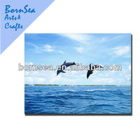 dacing dolphin digital picture photogragh giclee printing stretched canvas printing
