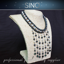 NO.2 low price wholesale simple style fashion pearl necklace jewelry set 2015 bead jewelry manufacturer