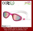 2014 fancy espelho revestido melhor protetor uv lentes corretivas de óculos de natação com o melhor preço