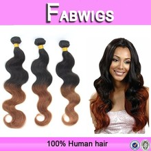 Fabwigs new product ombre body wave weave 100% virgin brazilian two tone human man weave bundle