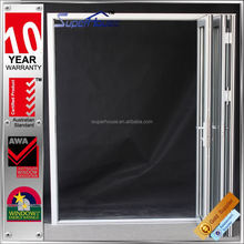 made in China energy efficient Double glazed commercial accordion folding doors