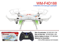 ufo aircraft 2.4G 4 channel 6 axis rc quadcopter with LED light rc drone