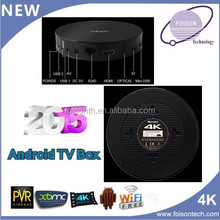 Android 4.4 mini pc Original Amlogic S812FT-A3301 TV box, Support H.265 TV-box Quad core android tv box