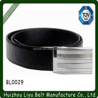 High quality Fashion metal automatic Black Real Leather Belts With pin Buckle/homens cintos de couro Cinto