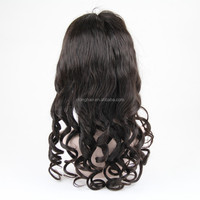 Hand Tied Brazilian Wave Black Natural Hair Wigs
