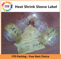 Full Wrapped Plastic Heat Shrink Band Container Decorated Labels