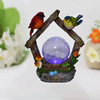 2015 New products solar lamps solar bird with small glass ball