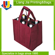 Custom Printing 8 Bottles Non Woven Wine Bag Made In Wenzhou