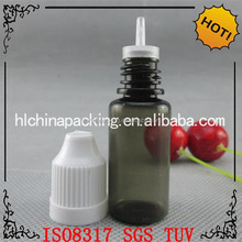 top class clear nicotine-liquid plastic drop bottle with different volume