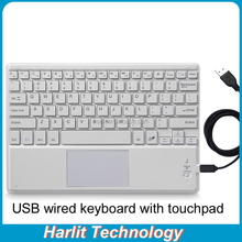 Lowest Price Standard Wired USB Keyboard TouchPad For Laptop Desktop Computer and Smart TV