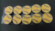 Metal Jewelry Zinc Alloy DIY 8mm Baseball Slide Charms Sports Balls Beads Sliders Charms