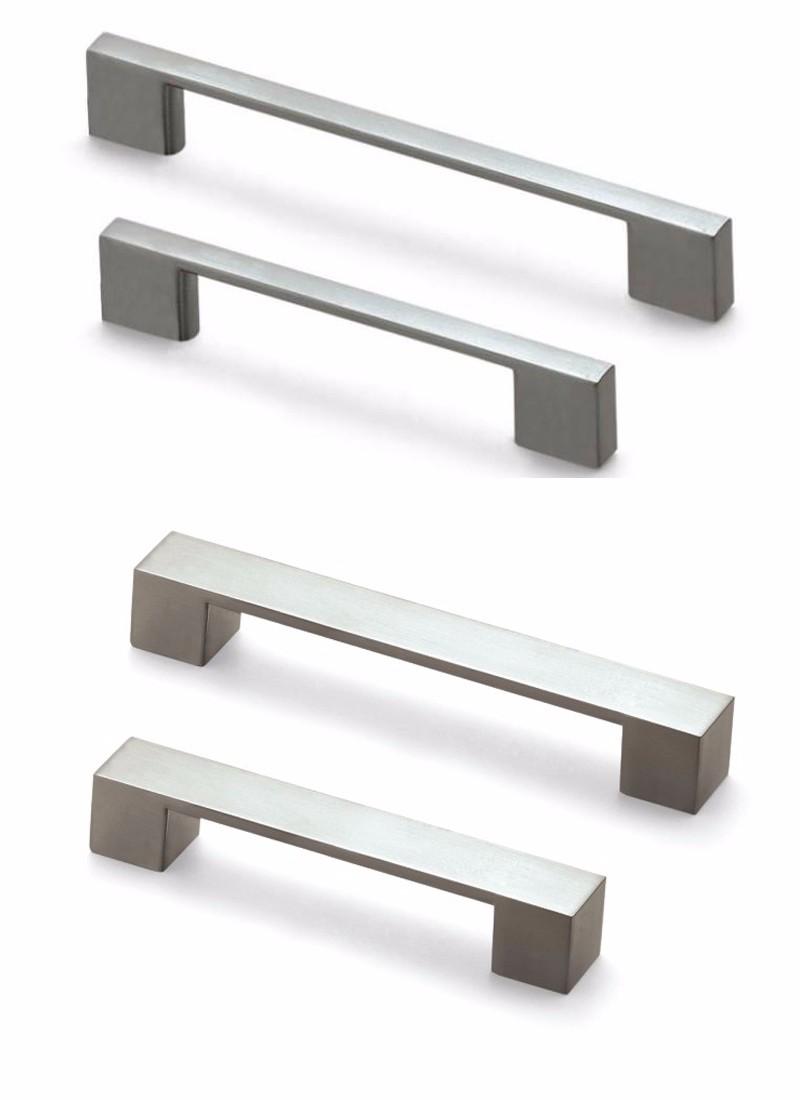 Moderne ontwerp borstel nikkel keuken handvat polish chrome ...