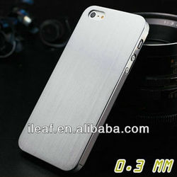 0.3mm Thin Brushed Aluminum case for iphone 5, Titanium steel mesh Metal back cover for iphone 5G