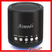 promotional round wireless mini bluetooth speaker with microphone