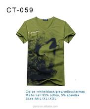 new arrive V-neck costom cheap wholesale 2015 fashion t-shirt for men