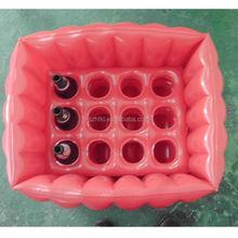 12 holders pink lagre inflatable float ice bucket beer cooler