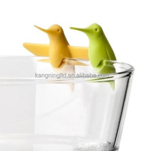 Funny Birds Clip New Product Silicone Wine Glass Markers for Party