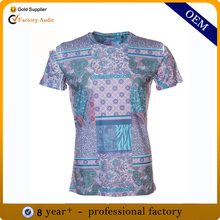TS066 Stylish full printed bodybuilding t shirts unbranded high quality preshrunk breathable t shirts in montreal