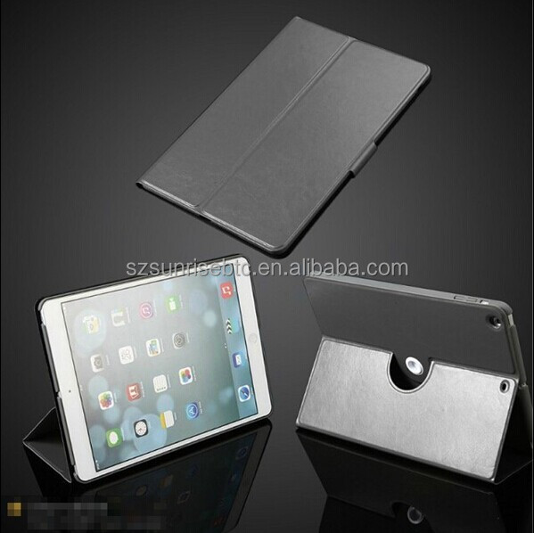 360 rotating pu leather case for ipad air