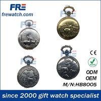 Luxurious pocket watch western watches with alloy case,pocket watch body