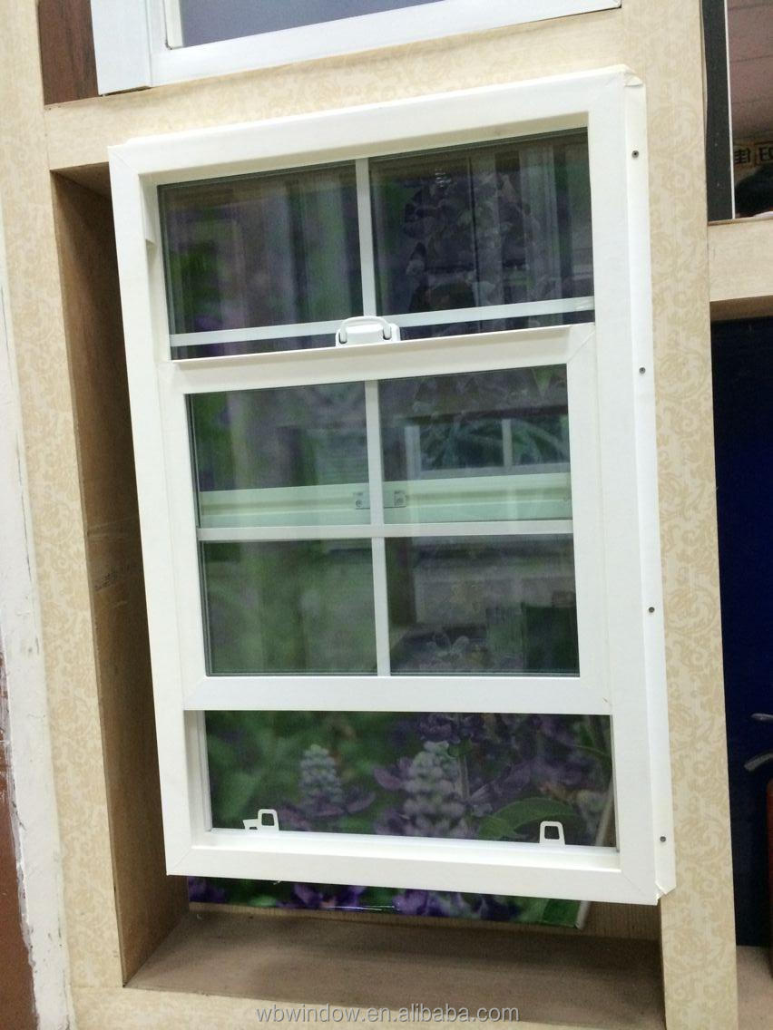 Double hung buck vinyl window with grill design pvc for Vinyl window designs