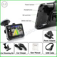4.3 Inch Car GPS Navigation Glonass Touch Screen FM Mp3 Mp4 AV IN Bluetooth GPS Free Map AND 4GB Card GPS Navigator