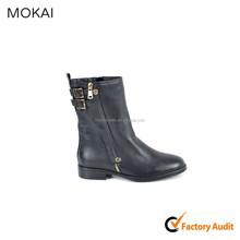 MK001-D6 Black pleaser italian leather ladies wholesale shoes