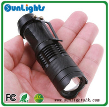 Mini LED Torch 7W Cree Q5 LED Flashlight Focus Zoom flashlight