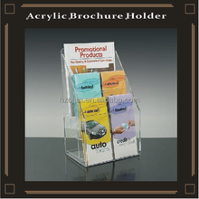 clear acrylic display shelves stand holder for leaflets brochures