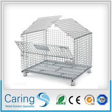 1208 steel pallet/durable metal pallet/wire mesh container with top cover