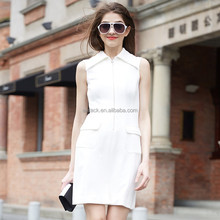 HJL-C1052 Veri Gude 2015 new summer wear fashion women's OL zipper sleeveless dress