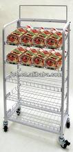 store display stand/ supermarket display shelf/ new design display showcase