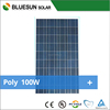 Bluesun specialized manufacture factory poly 100w solar panel price