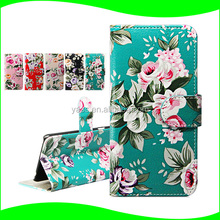 For iPod Touch 6 Flower Pattern Case, for iPod touch 6 Flip Case with Stand and Card Slots