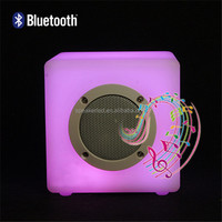 High Quality QFQ TF/AUX/USB Rechargeable Cube Led Bluetooth Speaker with Built-in Super Bass Speaker