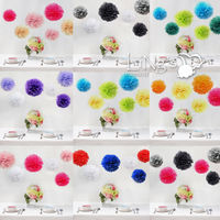 Ling's Handmade Tissue Paper Pompoms Wedding Party Decoration